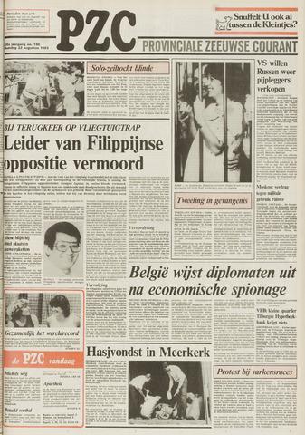 Provinciale Zeeuwse Courant 1983-08-22