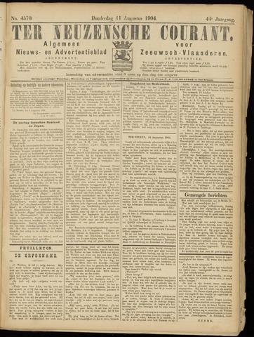 Ter Neuzensche Courant. Algemeen Nieuws- en Advertentieblad voor Zeeuwsch-Vlaanderen / Neuzensche Courant ... (idem) / (Algemeen) nieuws en advertentieblad voor Zeeuwsch-Vlaanderen 1904-08-11