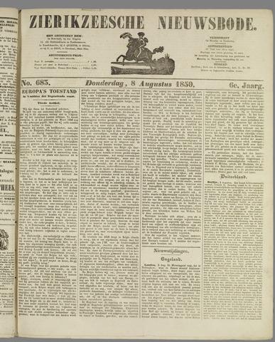 Zierikzeesche Nieuwsbode 1850-08-08
