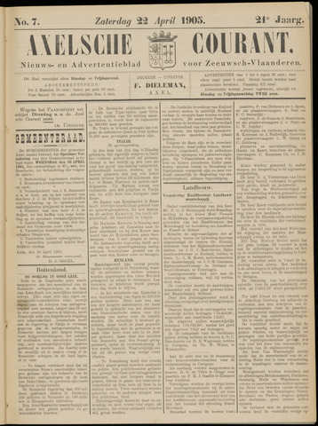 Axelsche Courant 1905-04-22