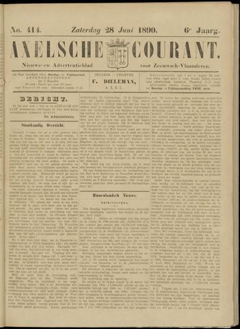 Axelsche Courant 1890-06-28