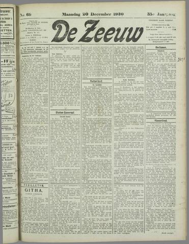 De Zeeuw. Christelijk-historisch nieuwsblad voor Zeeland 1920-12-20
