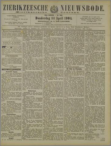 Zierikzeesche Nieuwsbode 1904-04-14