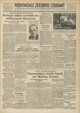 Provinciale Zeeuwse Courant 1952-04-21