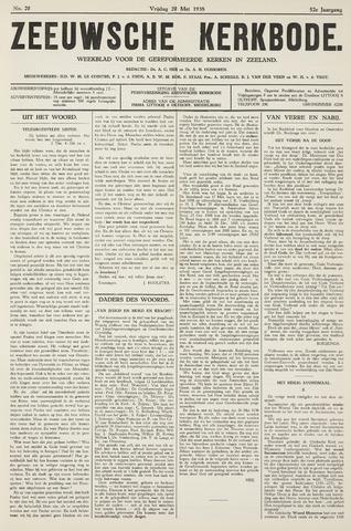 Zeeuwsche kerkbode, weekblad gewijd aan de belangen der gereformeerde kerken/ Zeeuwsch kerkblad 1938-05-20
