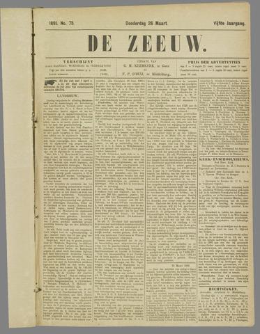 De Zeeuw. Christelijk-historisch nieuwsblad voor Zeeland 1891-03-26