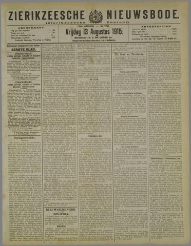 Zierikzeesche Nieuwsbode 1915-08-13
