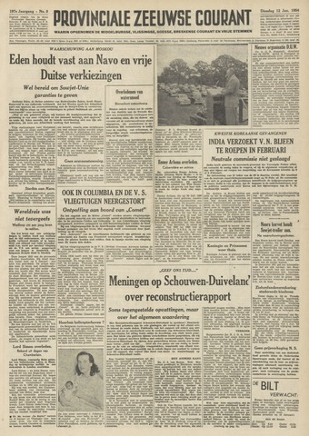 Provinciale Zeeuwse Courant 1954-01-12