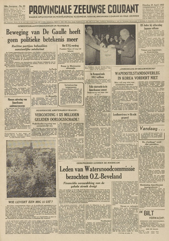 Provinciale Zeeuwse Courant 1953-04-28