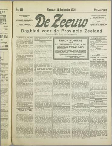 De Zeeuw. Christelijk-historisch nieuwsblad voor Zeeland 1930-09-22