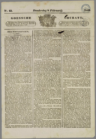 Goessche Courant 1849-02-08