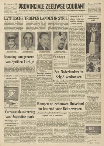Provinciale Zeeuwse Courant 1957-10-14