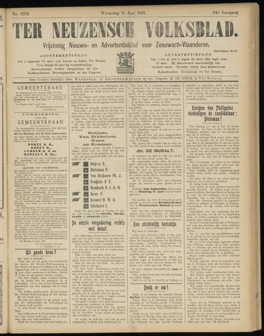 Ter Neuzensch Volksblad. Vrijzinnig nieuws- en advertentieblad voor Zeeuwsch- Vlaanderen / Zeeuwsch Nieuwsblad. Nieuws- en advertentieblad voor Zeeland 1913-06-11