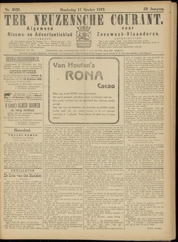 Ter Neuzensche Courant. Algemeen Nieuws- en Advertentieblad voor Zeeuwsch-Vlaanderen / Neuzensche Courant ... (idem) / (Algemeen) nieuws en advertentieblad voor Zeeuwsch-Vlaanderen 1912-10-17