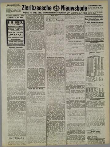 Zierikzeesche Nieuwsbode 1921-09-16