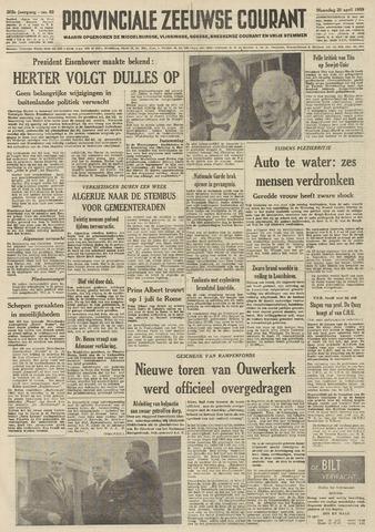 Provinciale Zeeuwse Courant 1959-04-20