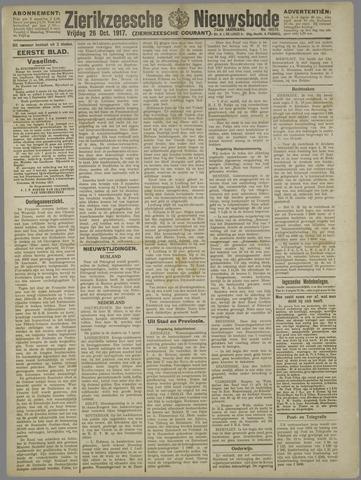 Zierikzeesche Nieuwsbode 1917-10-26