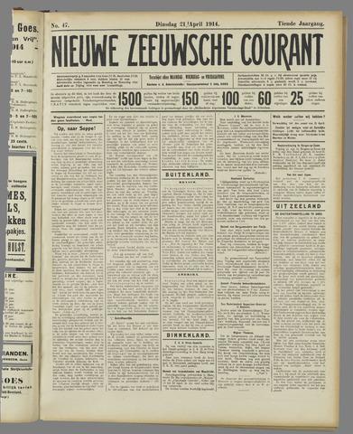 Nieuwe Zeeuwsche Courant 1914-04-21