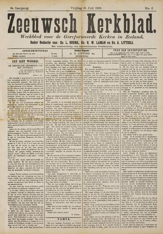 Zeeuwsche kerkbode, weekblad gewijd aan de belangen der gereformeerde kerken/ Zeeuwsch kerkblad 1908-07-31