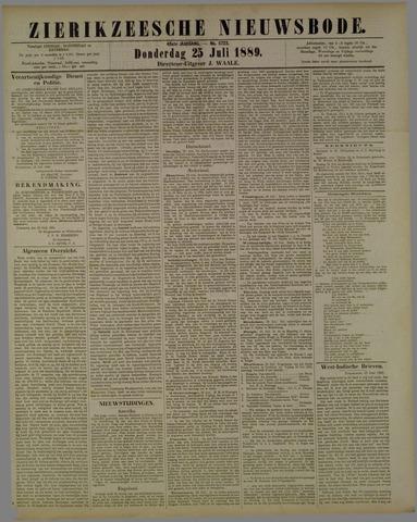 Zierikzeesche Nieuwsbode 1889-07-25