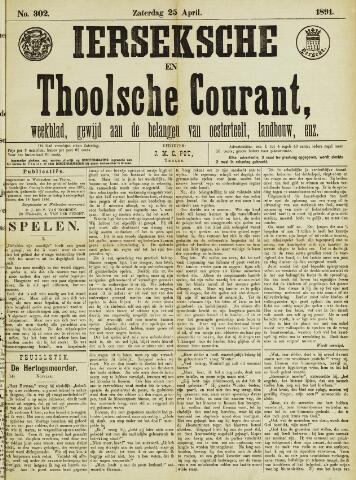 Ierseksche en Thoolsche Courant 1891-04-25