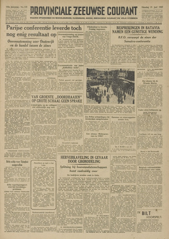 Provinciale Zeeuwse Courant 1949-06-21