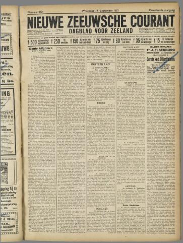 Nieuwe Zeeuwsche Courant 1921-09-14