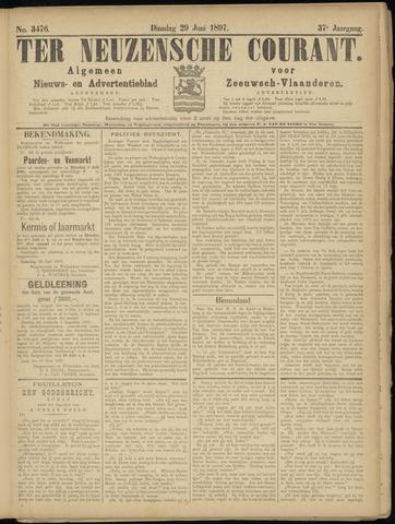 Ter Neuzensche Courant. Algemeen Nieuws- en Advertentieblad voor Zeeuwsch-Vlaanderen / Neuzensche Courant ... (idem) / (Algemeen) nieuws en advertentieblad voor Zeeuwsch-Vlaanderen 1897-06-29