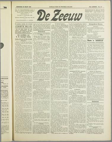 De Zeeuw. Christelijk-historisch nieuwsblad voor Zeeland 1934-03-22
