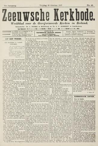 Zeeuwsche kerkbode, weekblad gewijd aan de belangen der gereformeerde kerken/ Zeeuwsch kerkblad 1917-10-26