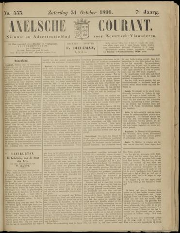 Axelsche Courant 1891-10-31