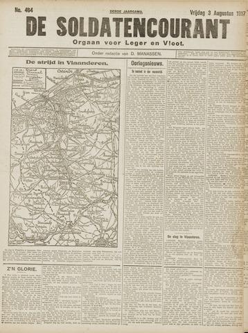 De Soldatencourant. Orgaan voor Leger en Vloot 1917-08-03