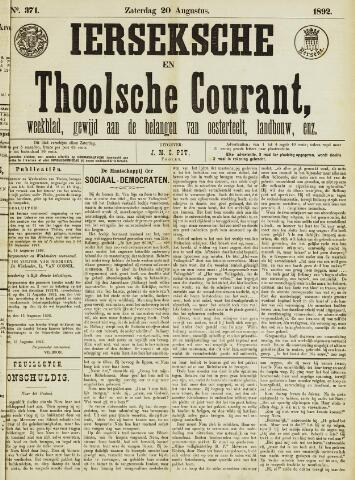 Ierseksche en Thoolsche Courant 1892-08-20
