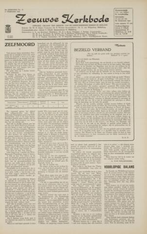 Zeeuwsche kerkbode, weekblad gewijd aan de belangen der gereformeerde kerken/ Zeeuwsch kerkblad 1966-02-11
