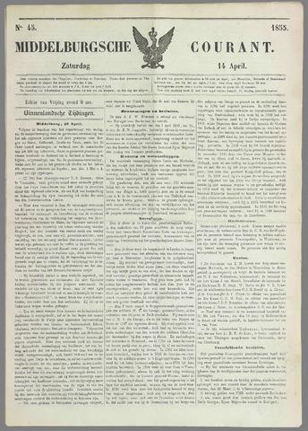 Middelburgsche Courant 1855-04-14
