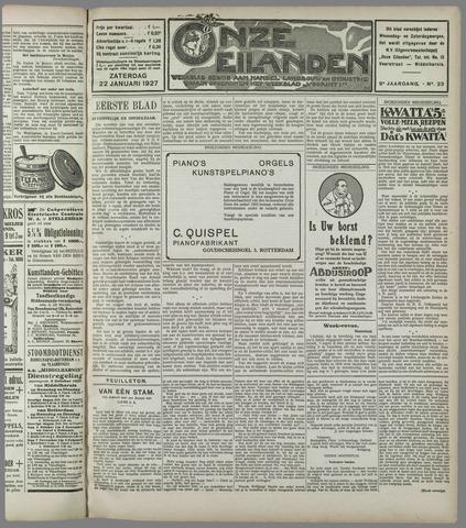 Onze Eilanden 1927-01-22