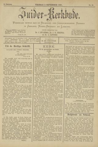 Zuider Kerkbode, Weekblad gewijd aan de belangen der gereformeerde kerken in Zeeland, Noord-Brabant en Limburg. 1897-09-03
