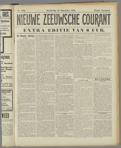 Nieuwe Zeeuwsche Courant 1914-09-24
