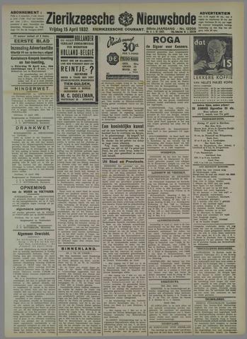 Zierikzeesche Nieuwsbode 1932-04-15