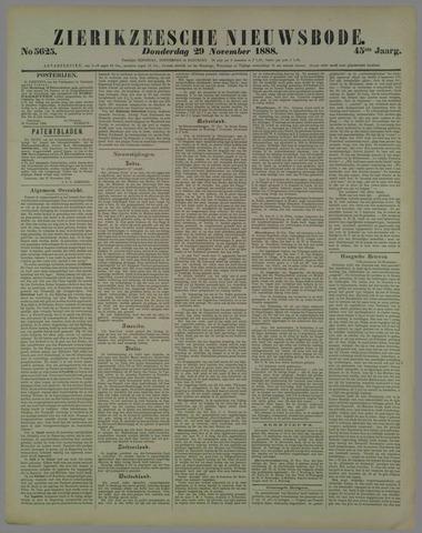 Zierikzeesche Nieuwsbode 1888-11-29