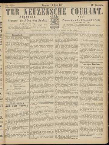 Ter Neuzensche Courant. Algemeen Nieuws- en Advertentieblad voor Zeeuwsch-Vlaanderen / Neuzensche Courant ... (idem) / (Algemeen) nieuws en advertentieblad voor Zeeuwsch-Vlaanderen 1911-06-13