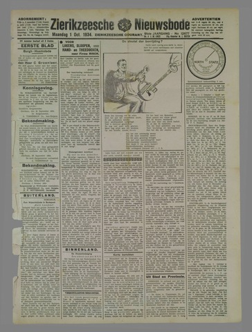 Zierikzeesche Nieuwsbode 1934-10-01