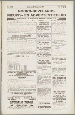 Noord-Bevelands Nieuws- en advertentieblad 1940-08-10