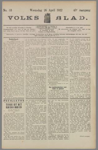 Volksblad 1922-04-26