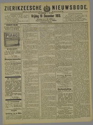 Zierikzeesche Nieuwsbode 1913-12-19