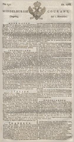 Middelburgsche Courant 1768-11-01