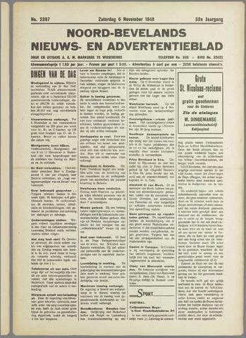 Noord-Bevelands Nieuws- en advertentieblad 1948-11-06