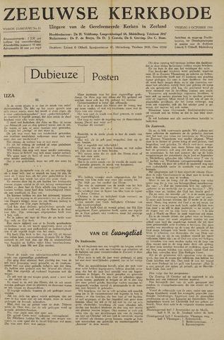 Zeeuwsche kerkbode, weekblad gewijd aan de belangen der gereformeerde kerken/ Zeeuwsch kerkblad 1948-10-08