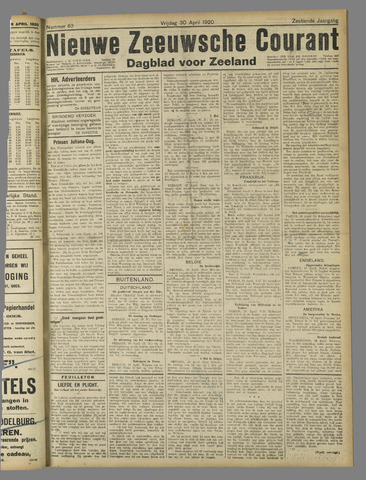 Nieuwe Zeeuwsche Courant 1920-04-30