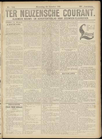 Ter Neuzensche Courant. Algemeen Nieuws- en Advertentieblad voor Zeeuwsch-Vlaanderen / Neuzensche Courant ... (idem) / (Algemeen) nieuws en advertentieblad voor Zeeuwsch-Vlaanderen 1921-10-24